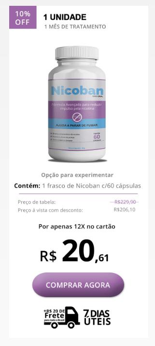 Nicoban preço 1