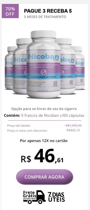Nicoban preço com super desconto